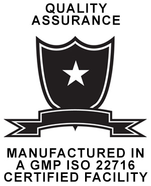 Manufactured In A GMP ISO 22716 Certified Facility
